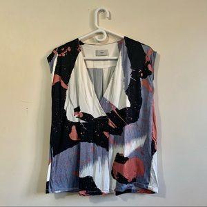 Minimum Abstract Print Sleeveless Top